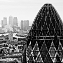 30 St Mary Axe from Tower 42 - click to enlarge